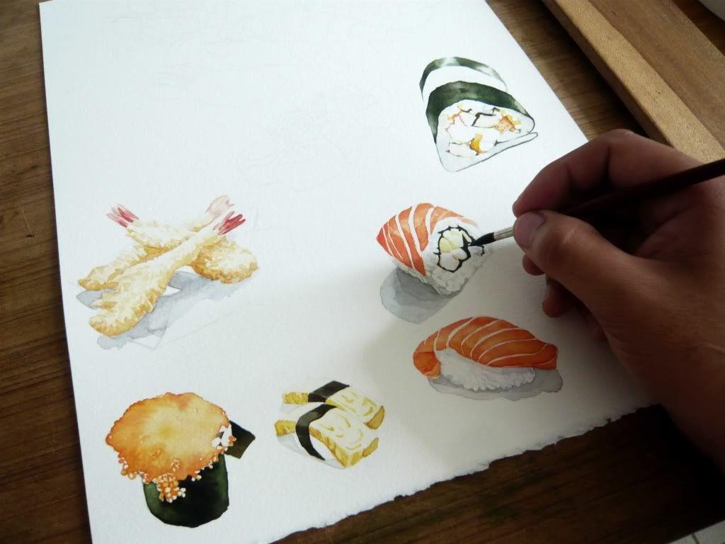 суши рисунки красками что можно сказать