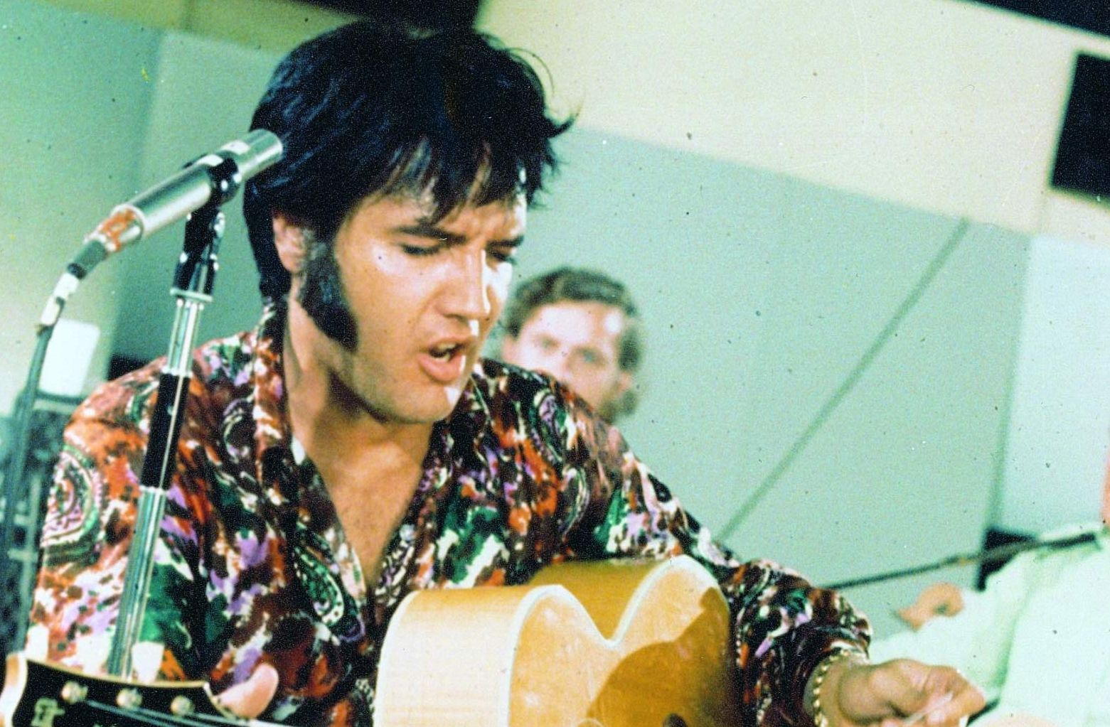 That shirt is now at Graceland behind a glass case. 1970s