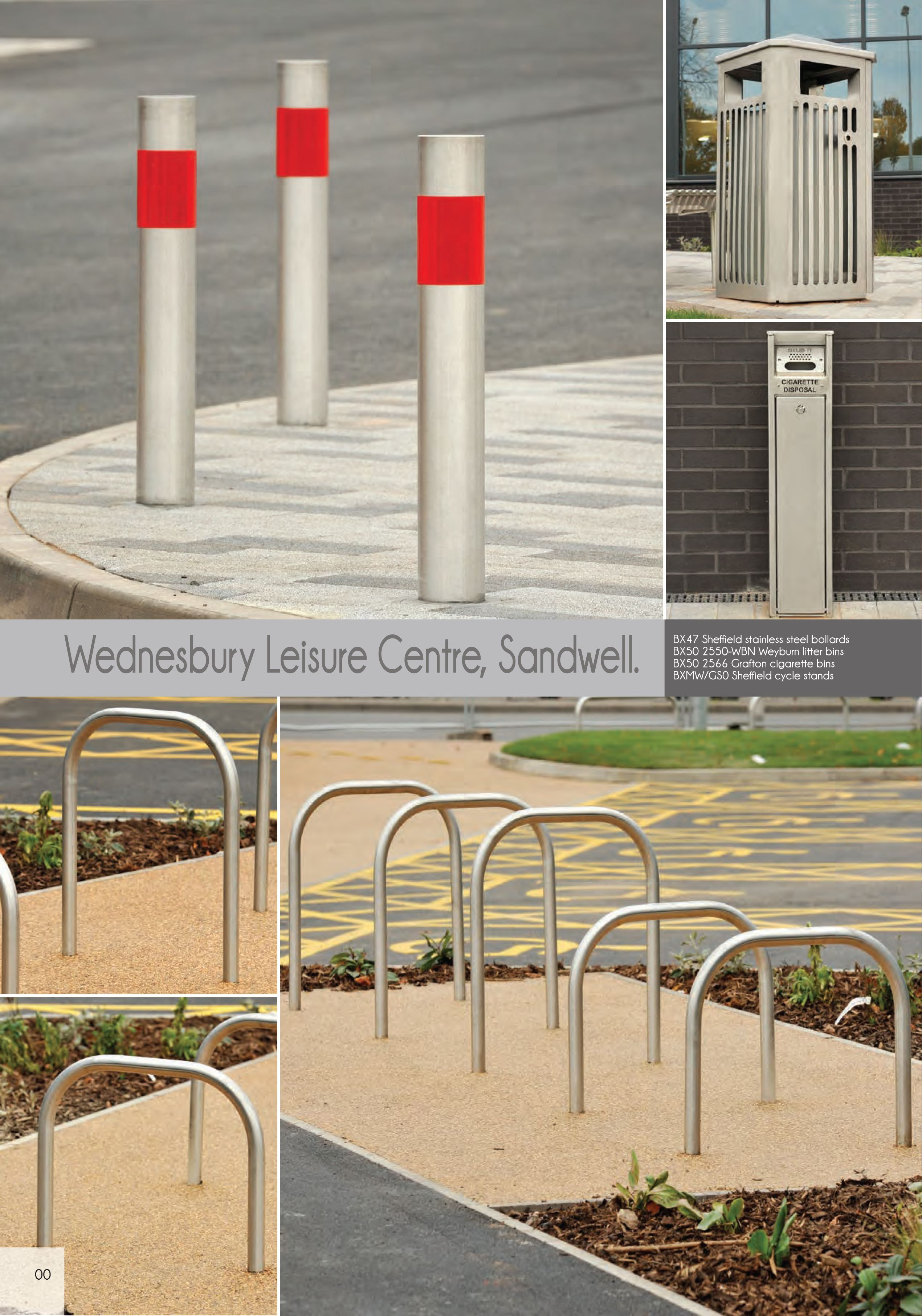 Wednesbury Leisure Centre Sandwell Street Furniture Bollards - Leisure furniture