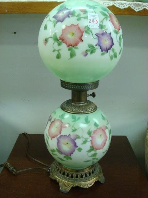 Handpainted Double Globe Gone With The Wind Lamp Apr 21