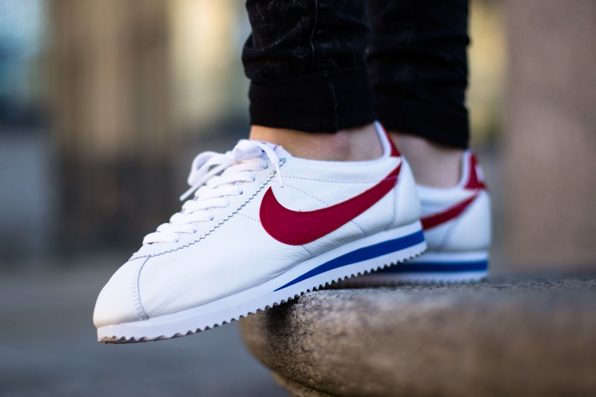 Buy 226742 Nike Classic Cortez Nylon Sapphire Men Blue Red Shoes