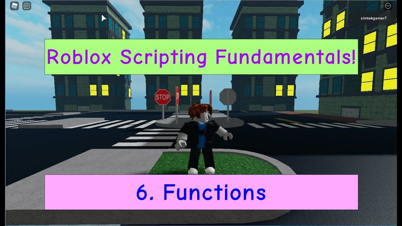 Roblox Animation Script Npc 06 Roblox Scripting Fundamentals How To Make A Function In 2020 Roblox Fundamental Script