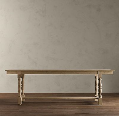 Restoration Hardware Dining Table 120 French Baluster Style