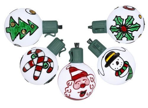 Battery Operated Painted Christmas Traditions G50 Light Products