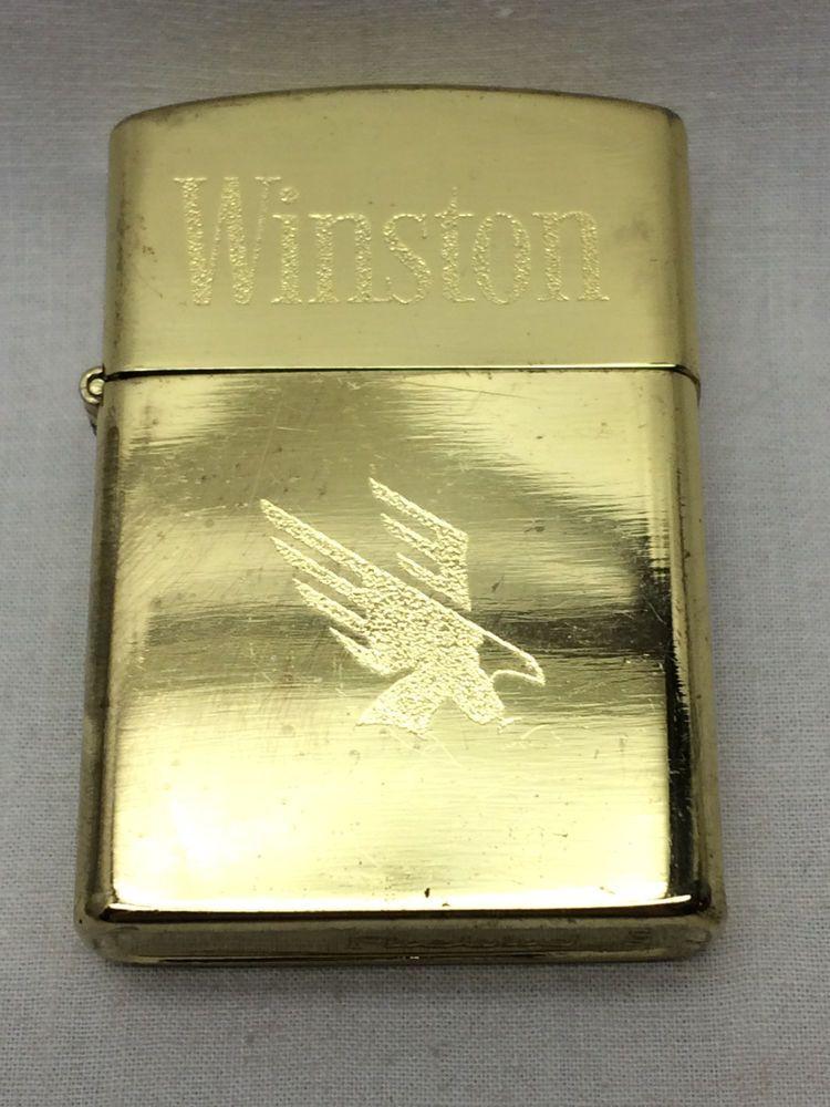 Vintage Etched Firebird Winston Cigarette lighter #Firebird