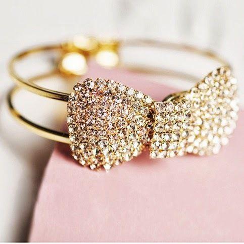 accessories :) bow bracelet! Sparkly :)