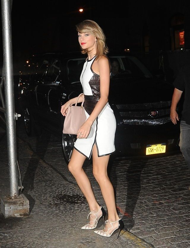 Arriving at her apartment in NYC 8/13/14