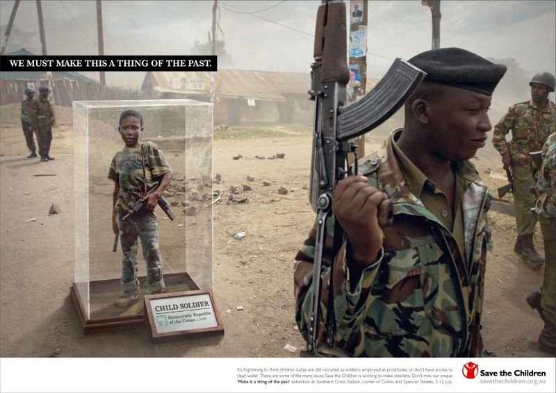 Ad Against Children Soldiers Wa Message Pinterest Ads And - 35 controversial shocking adverts make stop think
