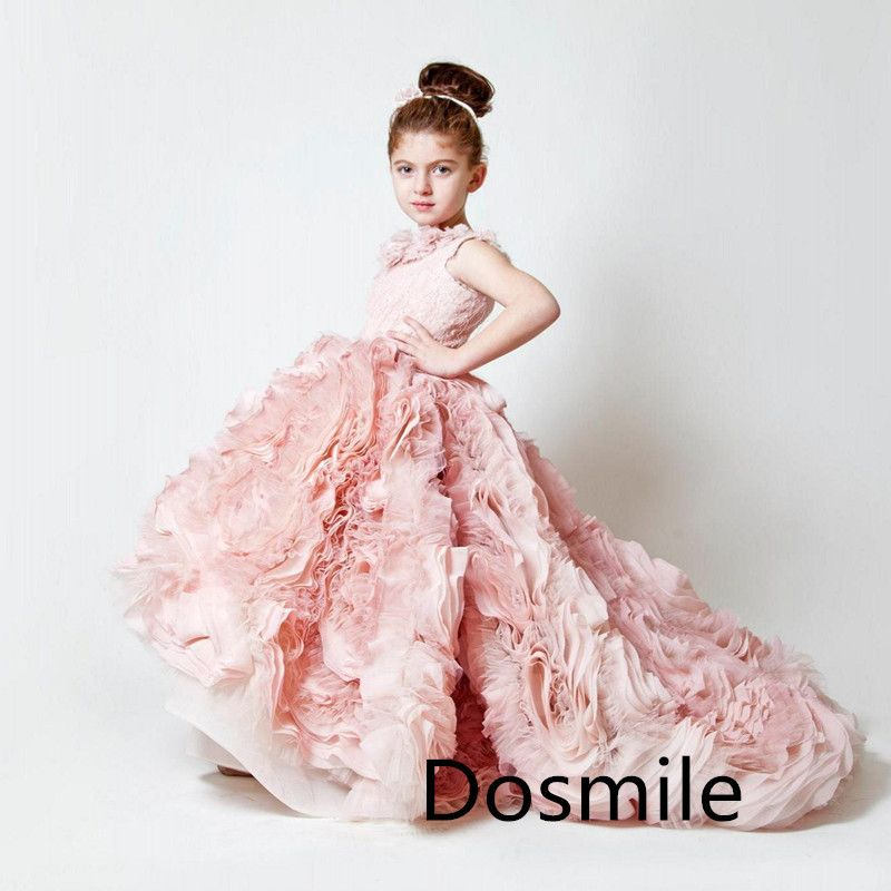 Haute-Couture-Pink-Lavender-Multilayers-Pleated-Ruffles-Organza ...