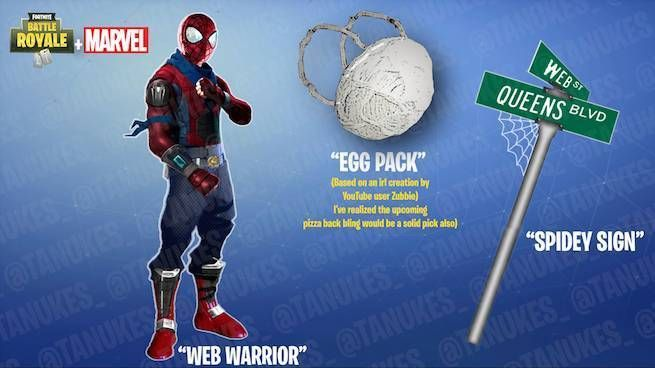 An Image Leaked Showing Spider Man Costume In Next Week S Fortnite - an image leaked showing spider man costume in next week s fortnite update fortnite spiderman update ps4 xboxone pc game games gaming