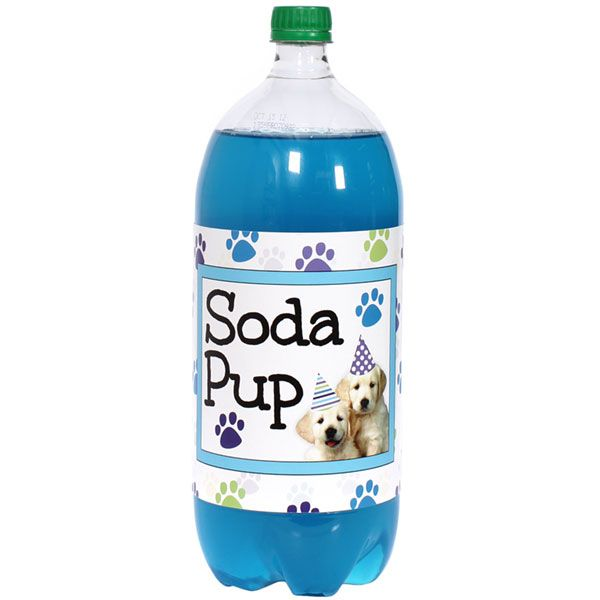 Puppy Party 2 Liter Bottle Labels 5 X 15 Inch 2 Count Bottle Labels Bottle Puppy Party