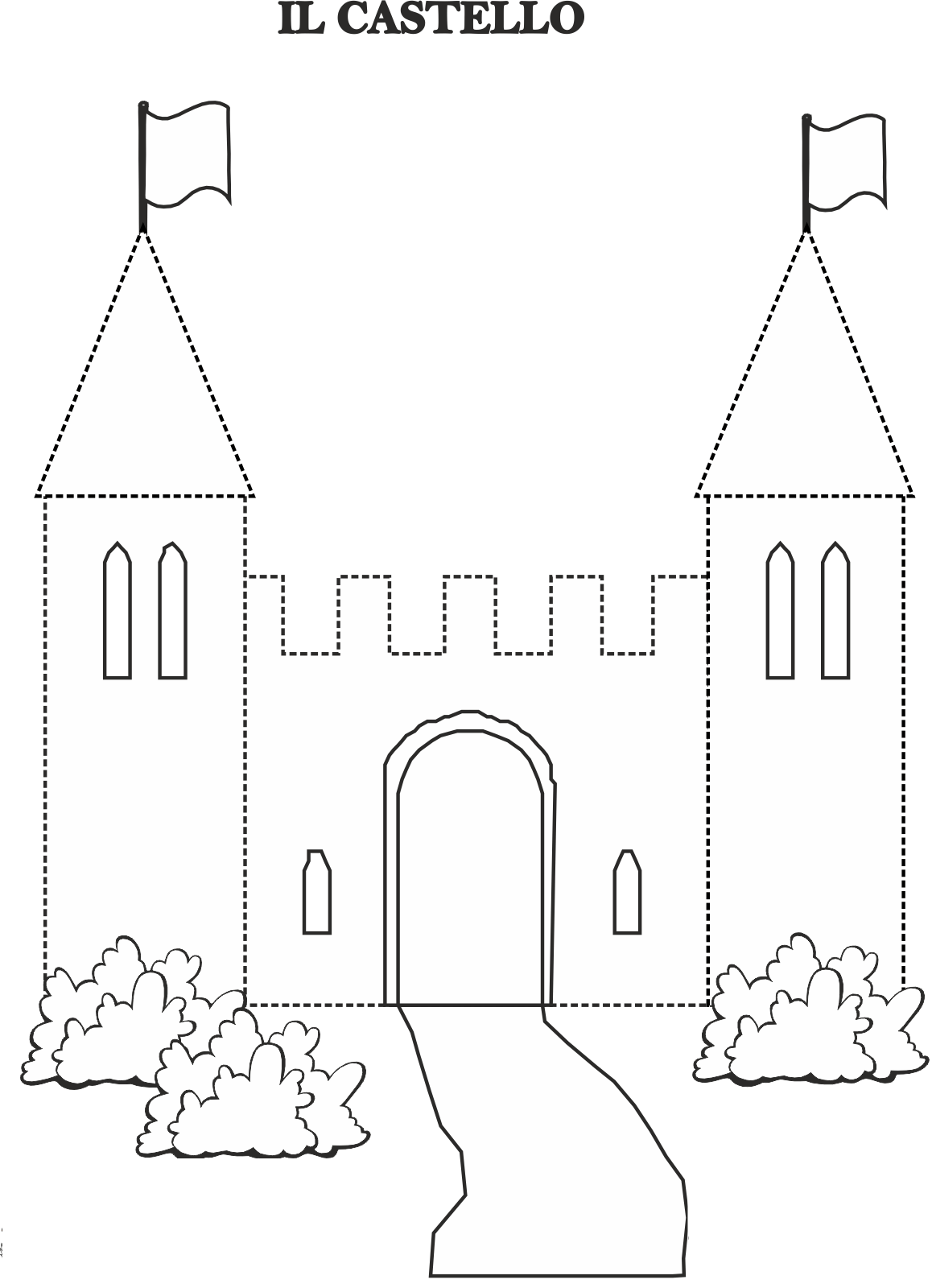 Castle Trace Line Worksheet