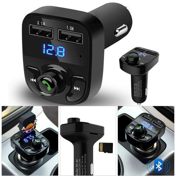 Car Kit Hands free Wireless Bluetooth FM Transmitter LCD MP3 Player USB Chargesr