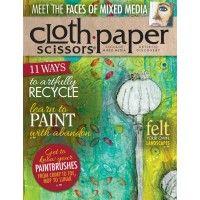Cloth Paper Scissors March/ April 2014 | Mixed Media Inspiration | NorthLightShop.com