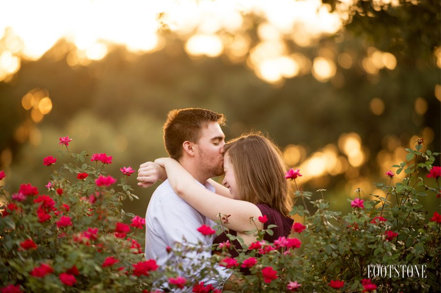Gainesville Florida Engagement Session in a Garden - by Footstone Photography www.footstonephotography.com