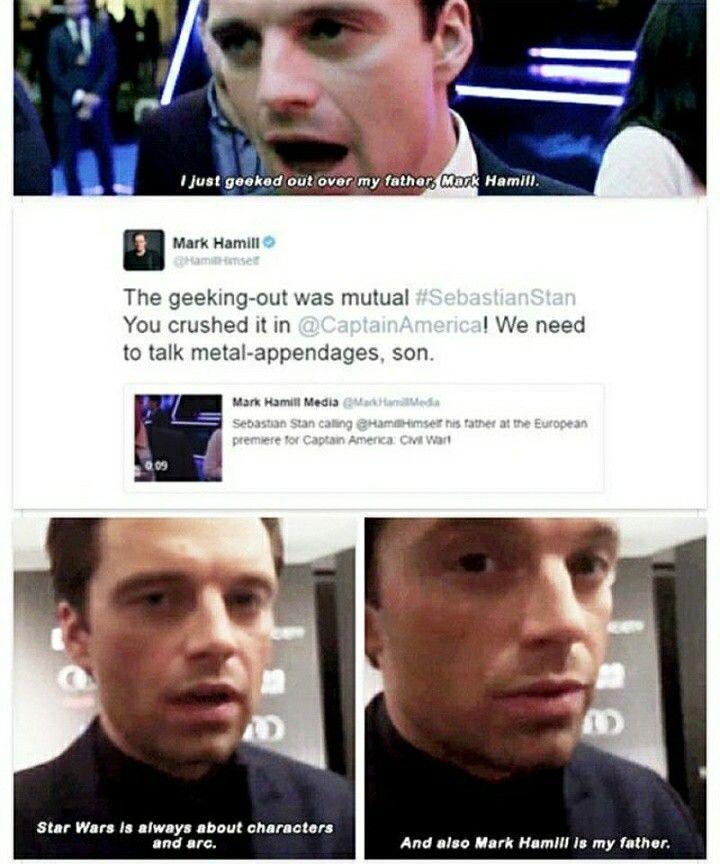Sebastian Stan + Mark Hamil perfect  | Sebastian Stan | Sebastian