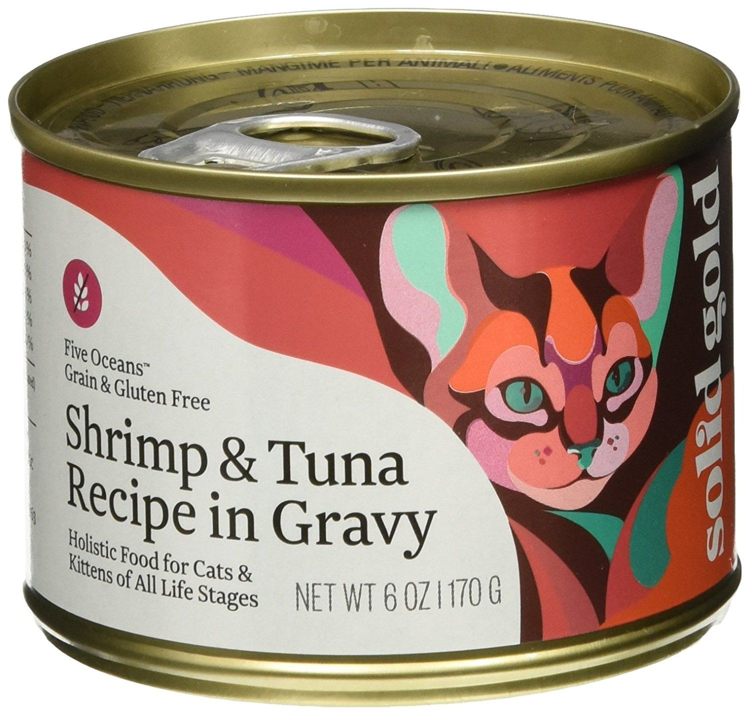 Solid Gold Five Oceans Holistic Wet Cat Food, Shrimp and