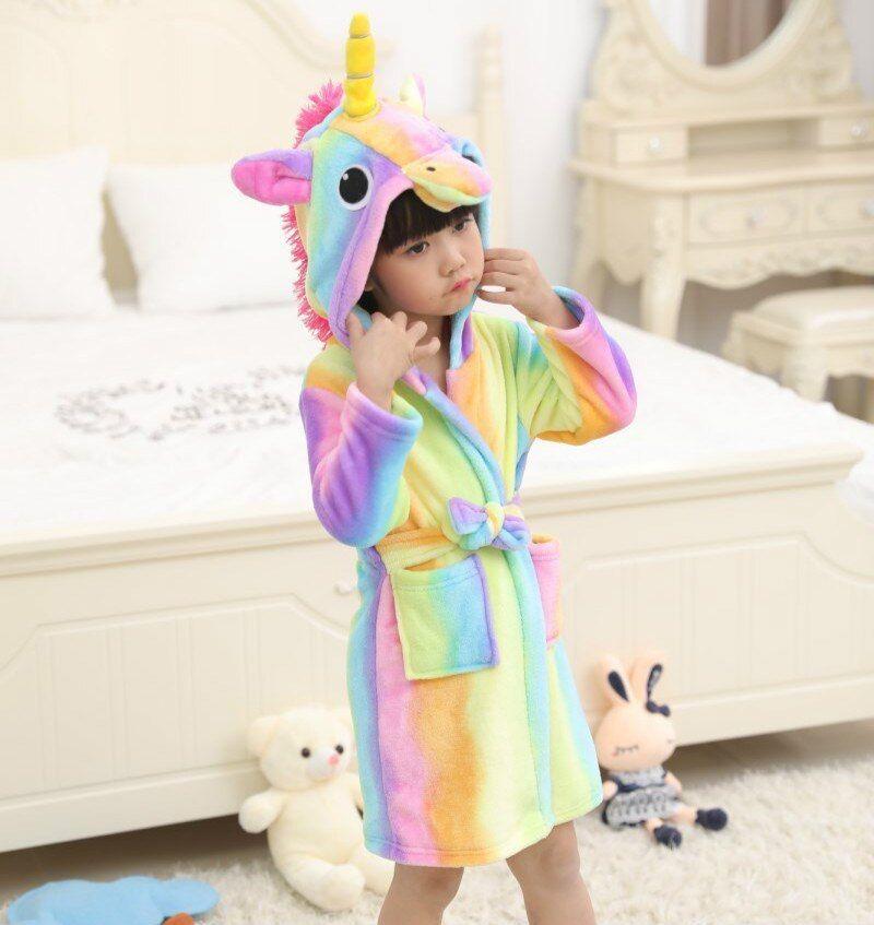 Toddler Baby Girls Boys Night Bath Robe Kids Sleepwear Homewear Pajamas Clothes