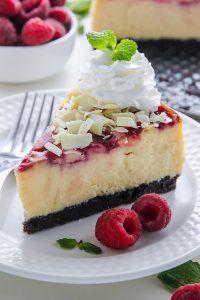 White Chocolate Raspberry Cheesecake - Baker by Nature