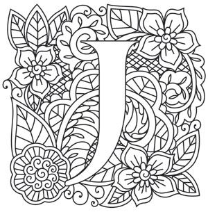 Craft Delicate Charm With This Mehndi Style Letter Downloads As A