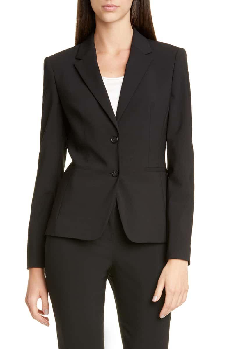 Boss Jonina Stretch Wool Suit Jacket Nordstrom Exclusive Nordstrom In 2021 Suit Jackets For Women Suits For Women Black Womens Suit [ 1196 x 780 Pixel ]