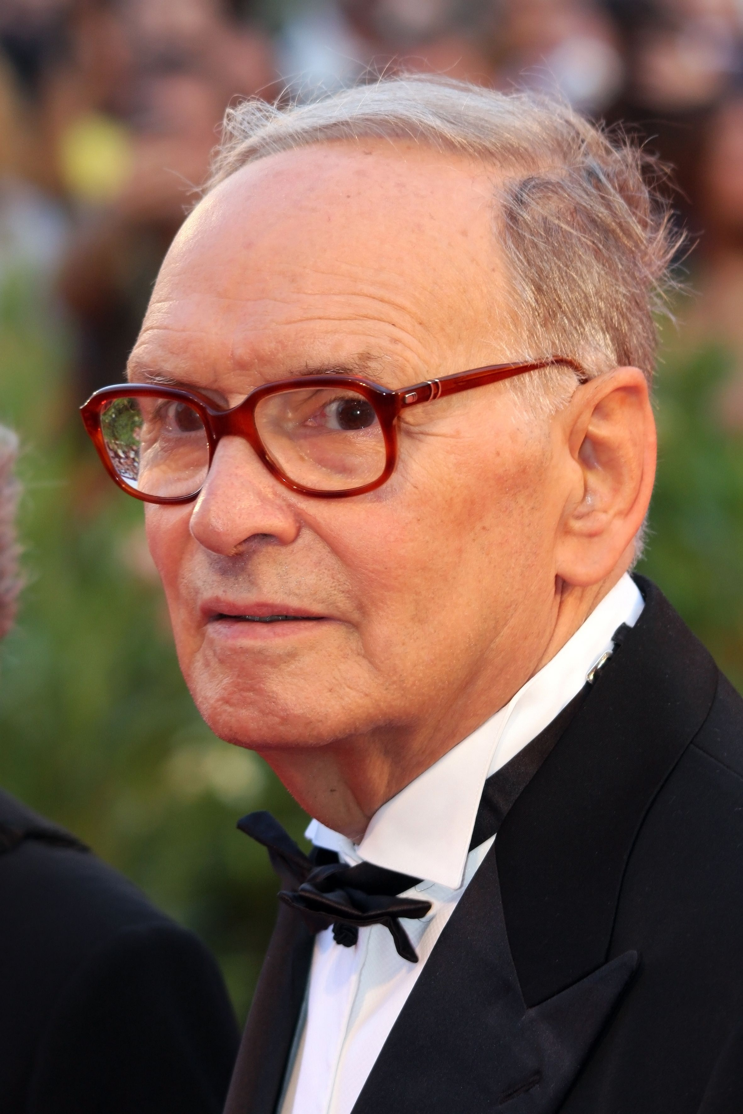 Ennio Morricone attends the 'Baaria' premiere during the 66th Venice Film Festival on September 2, 2009 in Venice, Italy. (ChinellatoPhoto / Shutterstock.com)