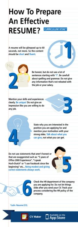 How to Prepare and Effective Resume? Inphographics Pinterest