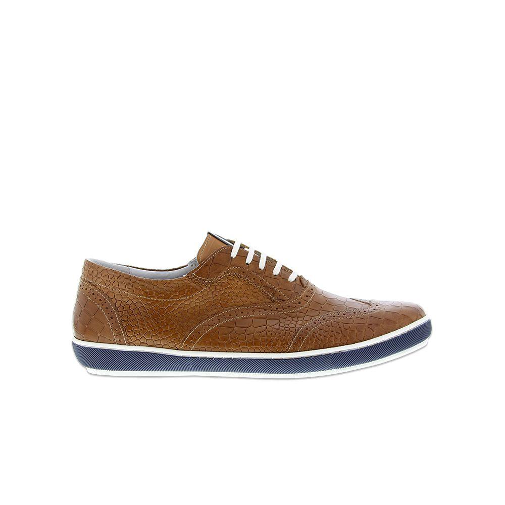 Floris Van Bommel Sneaker Cognac Croco Met Afbeeldingen Sneaker Veterschoenen Schoenen