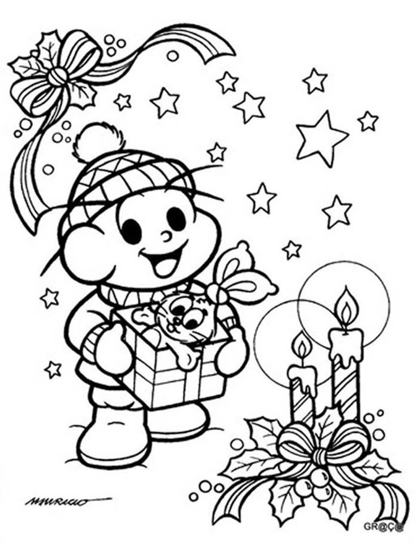 Cebolinha Dia De Natal Para Colorir Turma Da Monica Monica