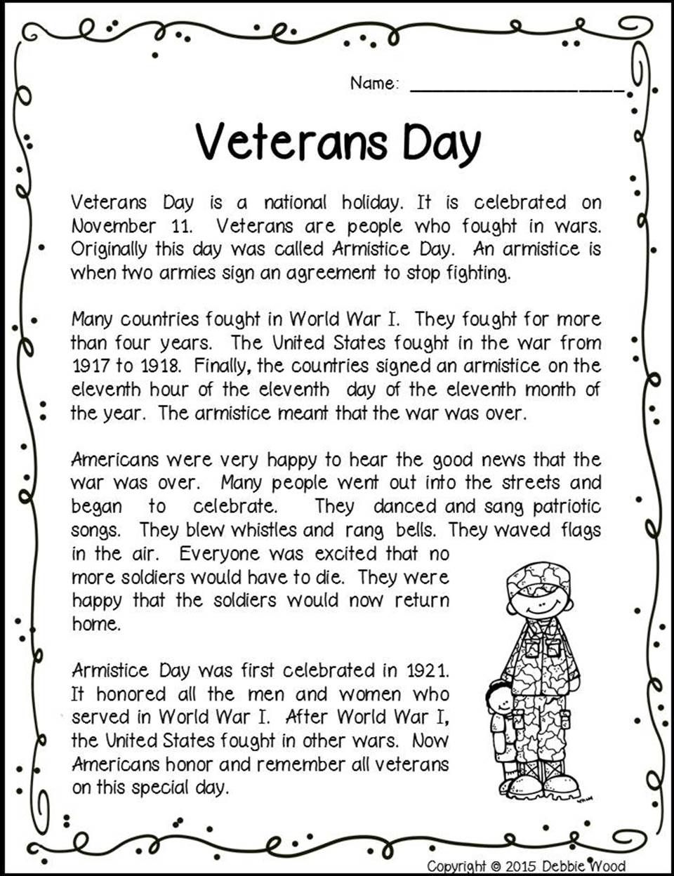 medium resolution of Veterans Day Activities   Veterans day activities