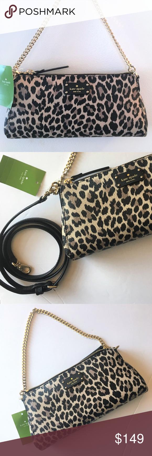 32b3b956dc Kate Spade Jane Crossbody Evening Bag ~ Leopard This lovely Grove Street  Jane bag by Kate