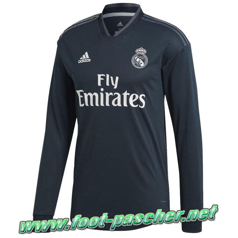 Replique Nouveaux Maillot Foot Real Madrid Exterieur Manche