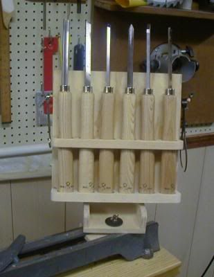Wood Lathe Tool Rack That Mounts To The Lathe Bed