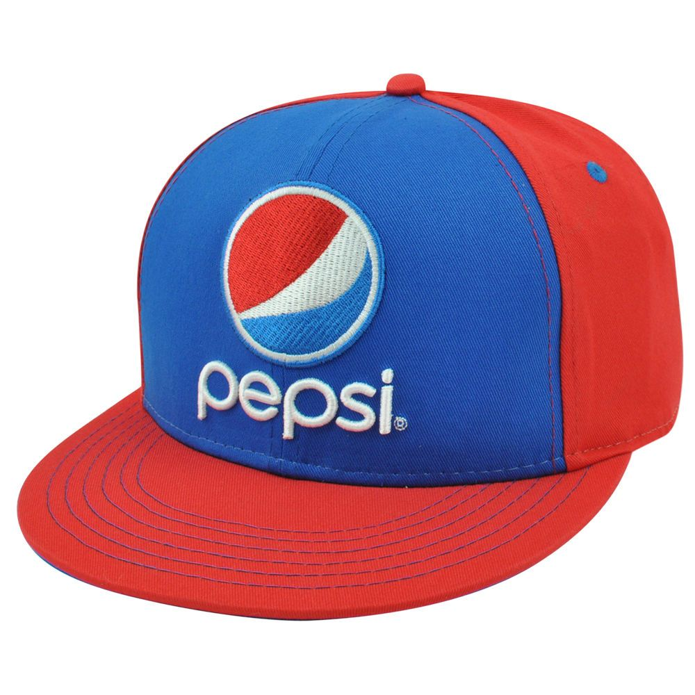 ad44eb2d580 Pepsi Cola Soda Beverage Brand Drink Snapback Flat Bill Contrast Crown Hat  Cap  Pepsi  Pepsi