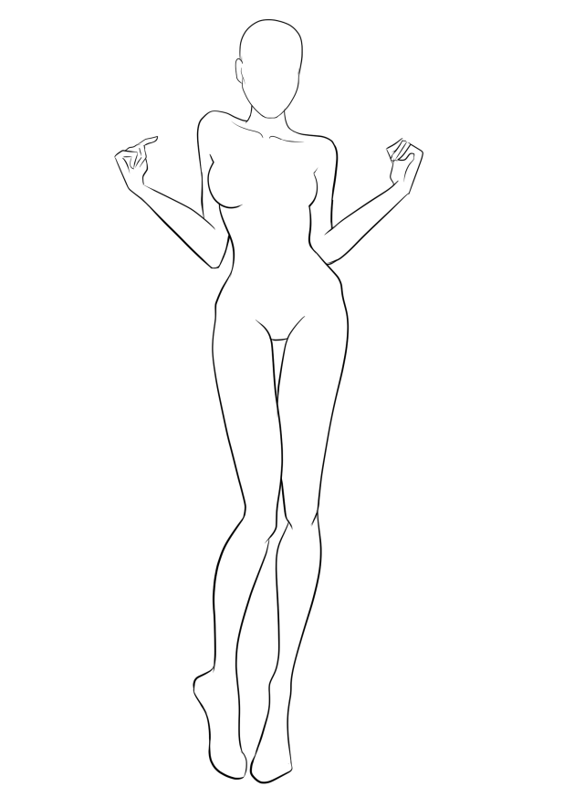 Body Base Outline For Fashion Sketches In 2020 Fashion Design Template Fashion Figure Drawing Fashion Figure Templates