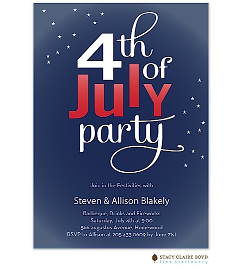 lets celebrate the fourth of july party invites