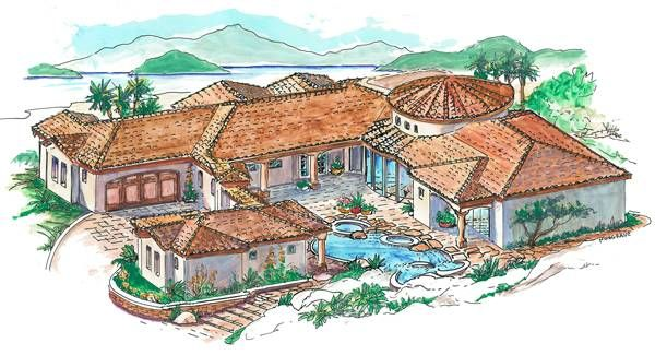 Luxury Mediterranean Style House Plan 1250 Spanish Style Homes Mediterranean Style House Plans Mediterranean House Plans