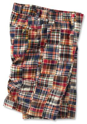 Plaid Madras Shorts for Men - Patch Madras Shorts -- Orvis on ...