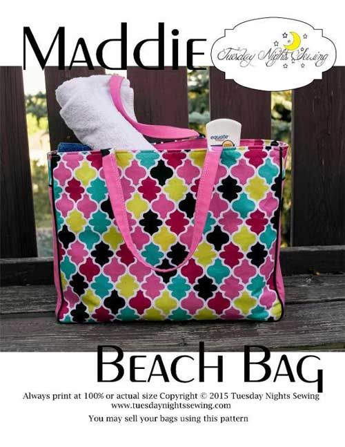 Maddie Beach Bag - Free Sewing Pattern | Bags to Sew! Sewing ...
