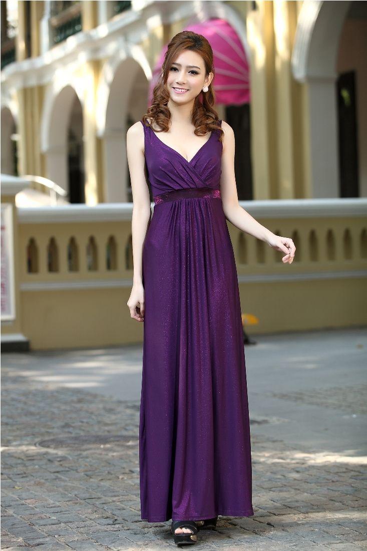 Purple Long Party Evening Maxi Dress