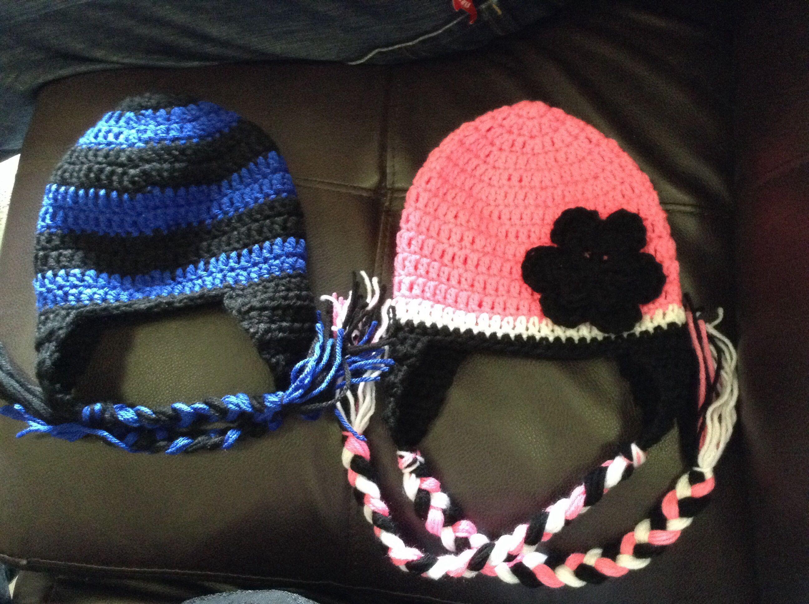 Double crochet with earflaps