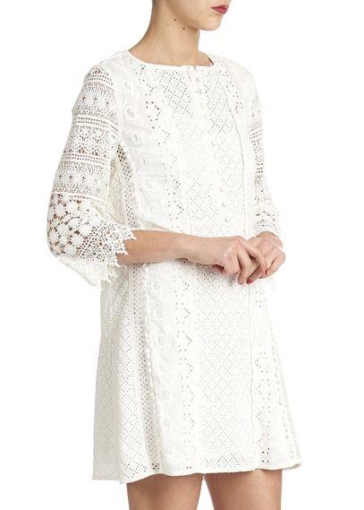 3947f04f8072 Robe en crochet Dee Blanc by ATHE-VANESSA BRUNO