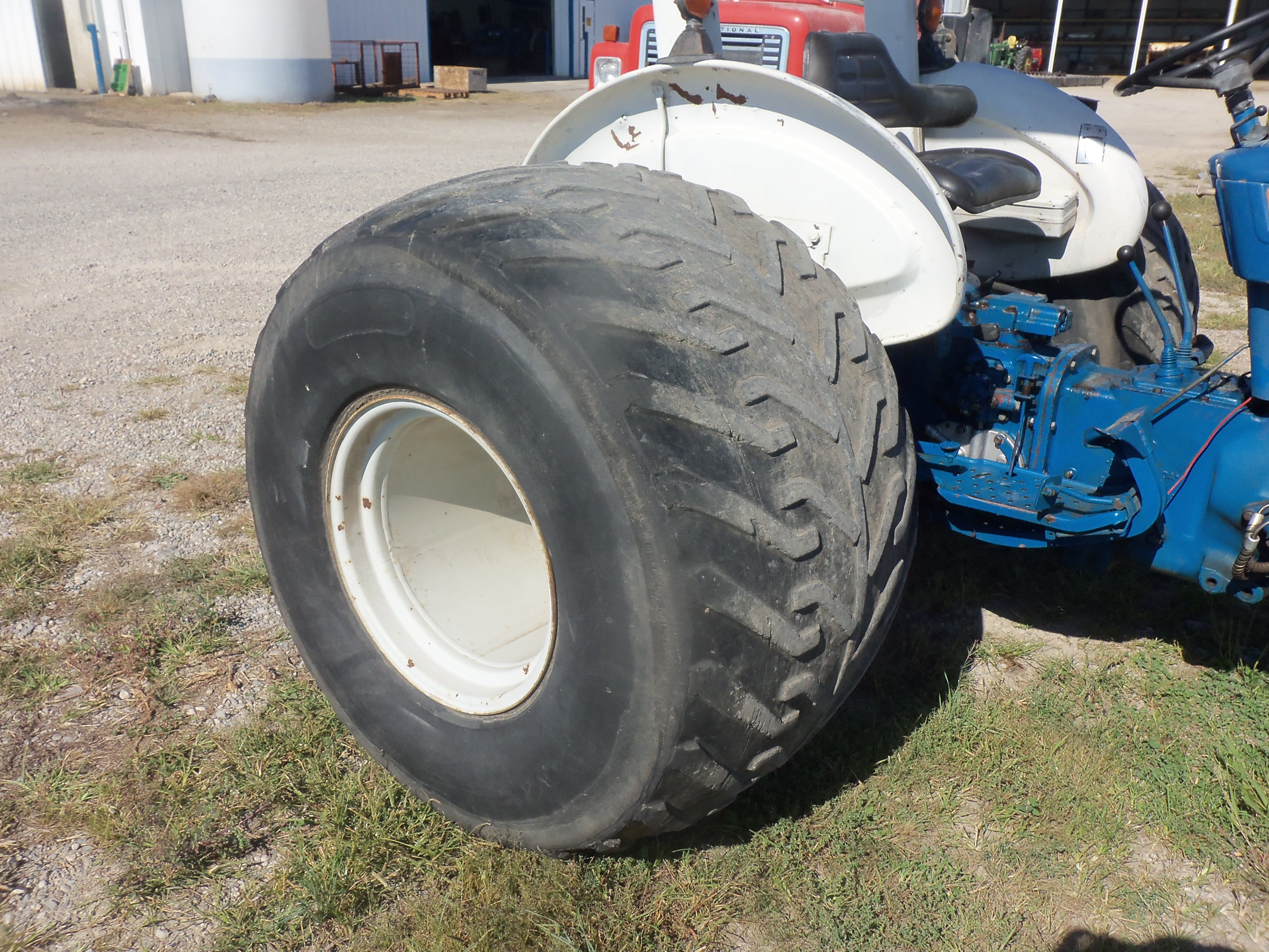 Ford Tractor Turf Tires : Large wide turf tire on ford tractors