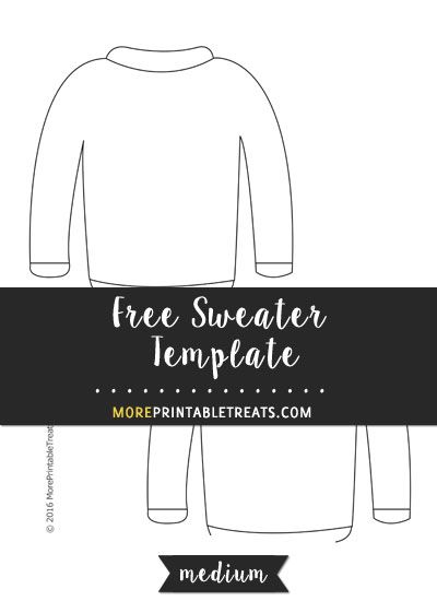Free Sweater Template - Medium Size Shapes and Templates