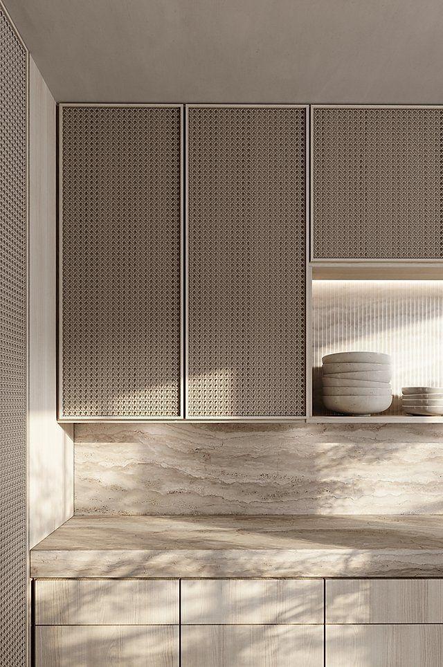 moderne Küche   minimalistische Küche   Küche in beige