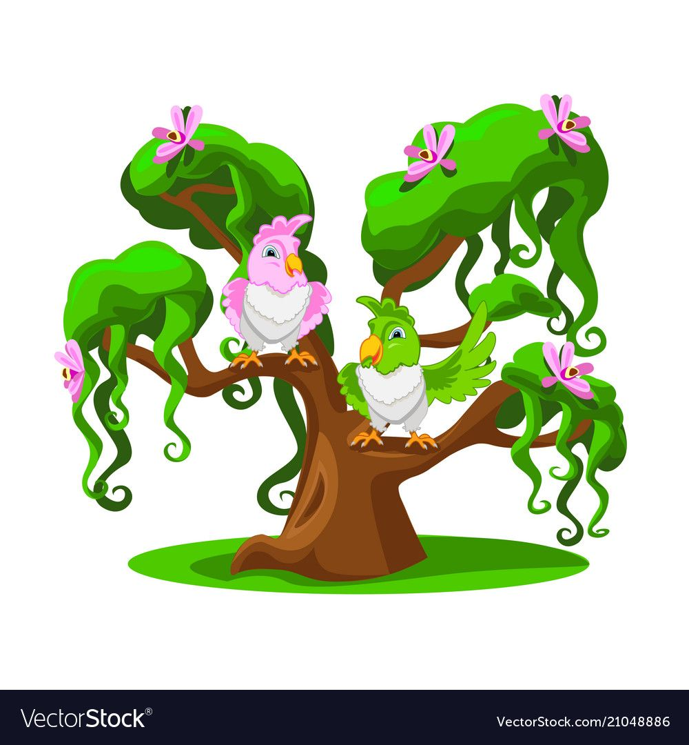 Cheerful Parrots On A Tree Download A Free Preview Or High Quality Adobe Illustrator Ai Eps Pdf And High Resolution Cartoon Trees Funny Parrots Illustration ✓ free for commercial use ✓ high quality images. pinterest