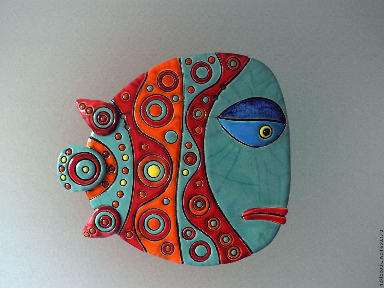 Керамическое панно «Рыба» – Керамика, рыба, …