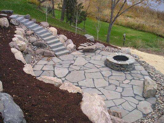 Flagstone Fire Pit Ideas Natural Stone Patio With Yelp