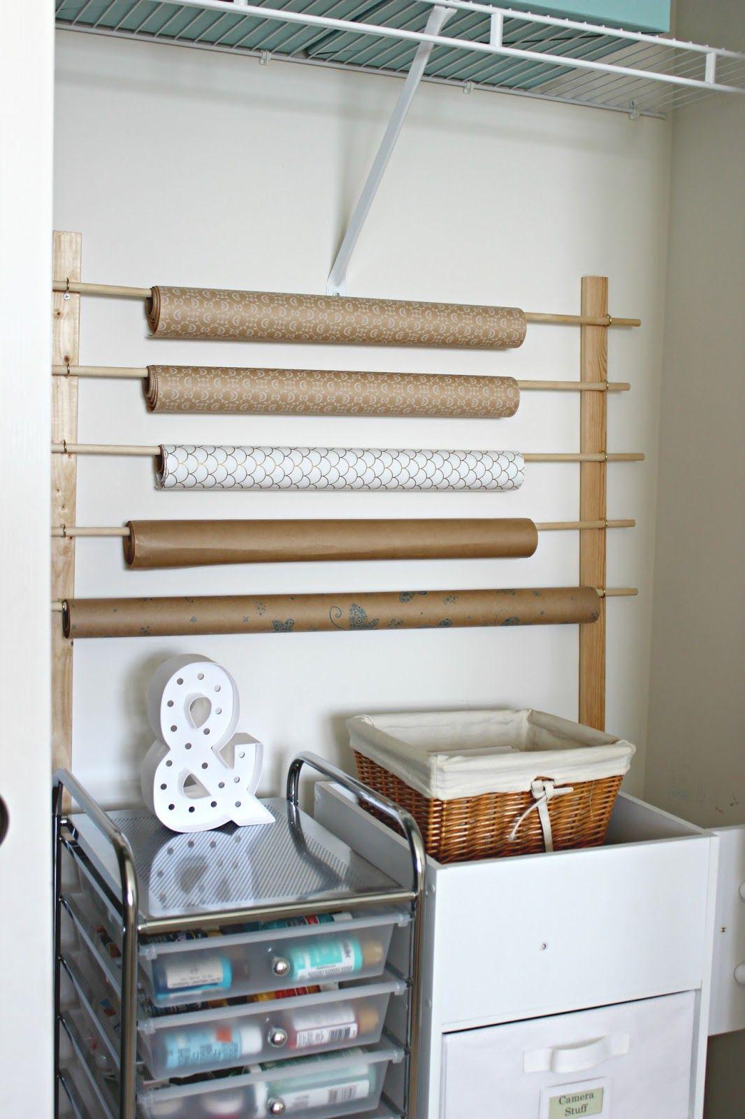 Diy wrapping paper storage diy storage diy wrapping