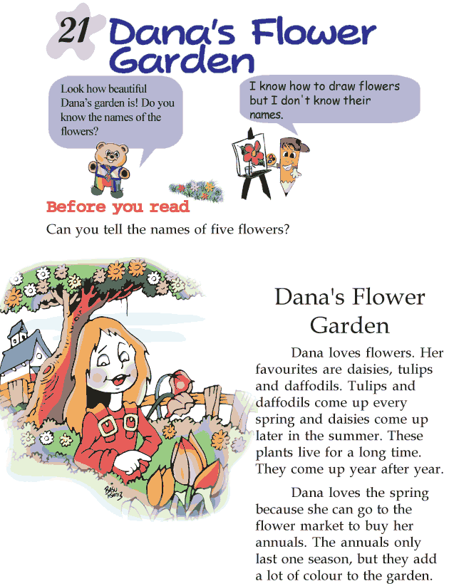 Grade 2 Reading Lesson 21 Short Stories - Dana\'s Flower Garden ...
